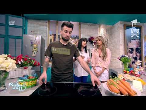 Pulpe de pui cu sos de usturoi și morcovi caramelizați