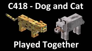 Minecraft Music - Dog and Cat Played Together!