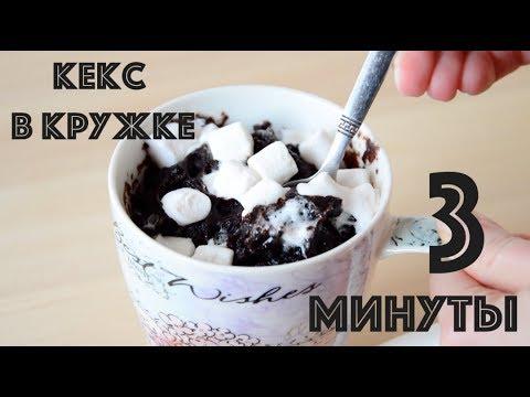 Шоколадный кекс в кружке за 3 минуты ☆ Обзор микроволновой печи Gemlux