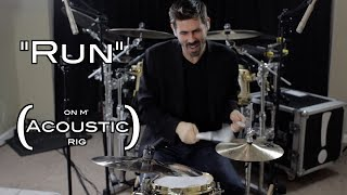 "Drumming ""Run"" on an Acoustic Rig with Jillian Cardarelli"