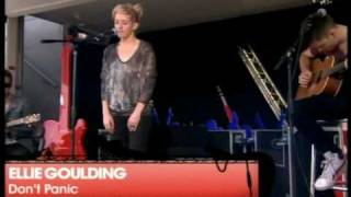 Ellie Goulding - Don't Panic (Coldplay cover) - V Festival 2010 21st August 2010