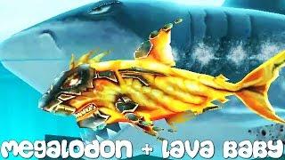Hungry Shark Evolution - Megalodon + Lava Baby
