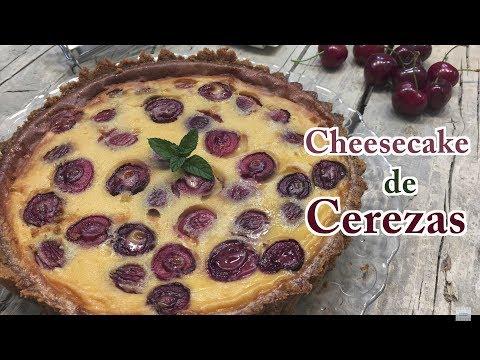 Cheesecake de Cerezas | Tarta de Queso y Cerezas | Tarta de Cerezas | Pastel de Cerezas
