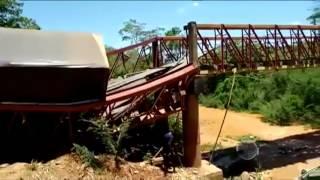 Vídeo mostra carreta tombada em ponto no sul do Piauí