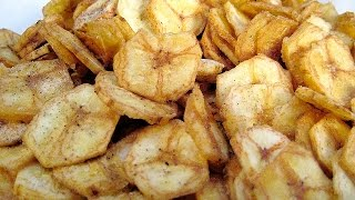 Banana Chips Recipe In Hindi- Kele Ke Chips Recipe in Hindi - Banana Wafers केले के चिप्स की रेसिपी