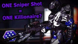 Is it possible to get a Killionaire with ONE Sniper Shot? - Halo 5 Infection