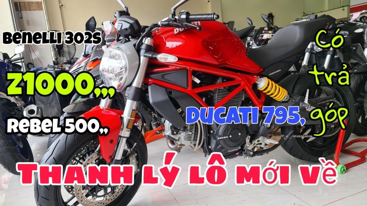 lô hạng nặng đẳng cấp Ducati 795, Z1000, Benelli 302s, Rebel 500, và nhiều dòng môtô khác.