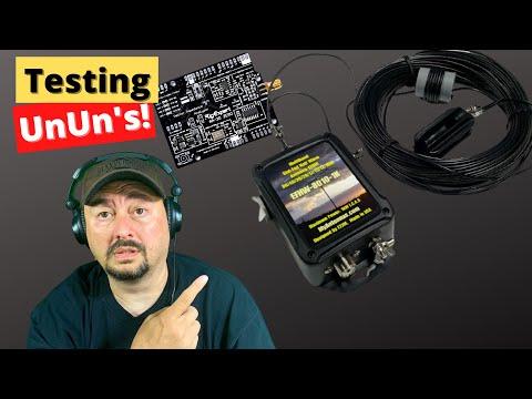 Testing UnUn's   Ham Radio Antennas