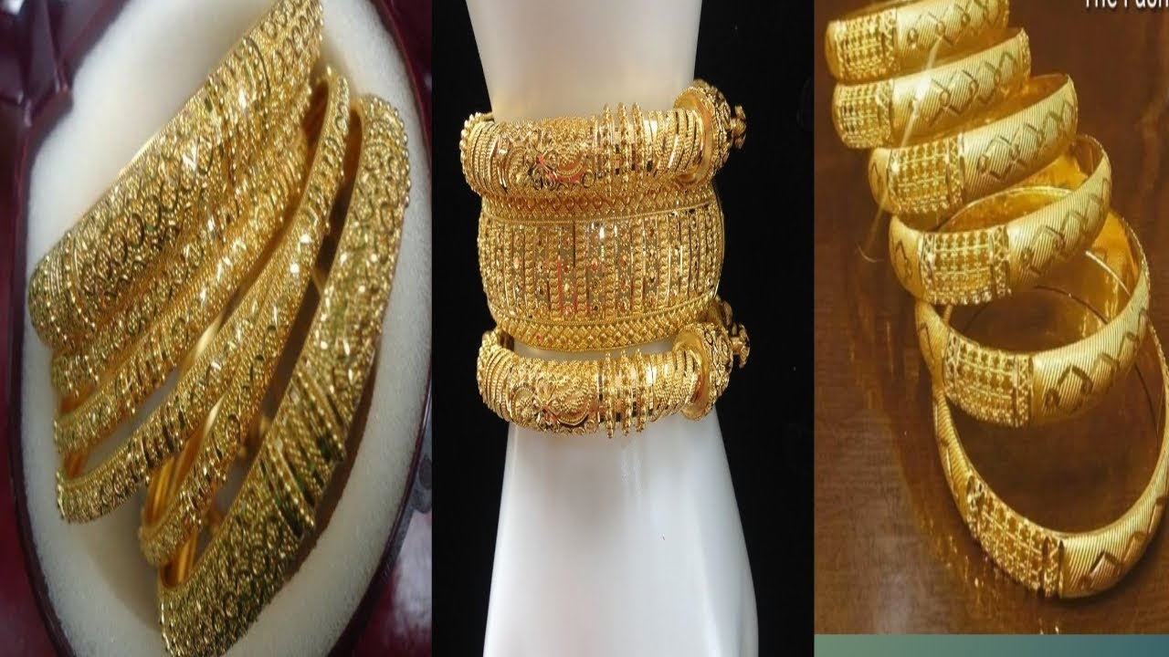 Gold Bangle Designs With Weight
