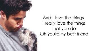 Glee - You're My Best Friend (Lyrics)