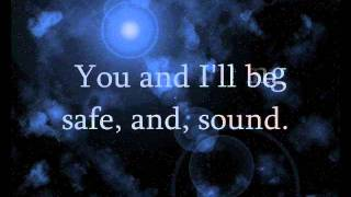 Safe and Sound (Cover) - Julia Sheer (Lyrics)