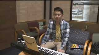 Teen uses music to provide peace to patients (WFMJ)
