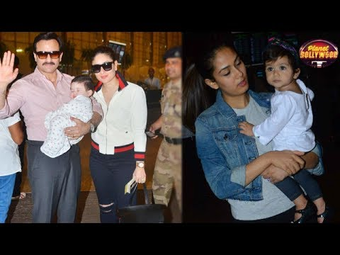Taimur Wins Hearts Again In His Own Style | Misha Kapoor Looks Adorable At The Airport