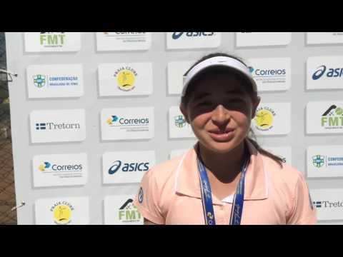 Camilla Bossi é campeã de 12 anos do Brasileirão 2015