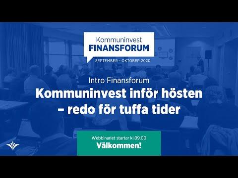 Intro Finansforum: Kommuninvest inför hösten – redo för tuffa tider