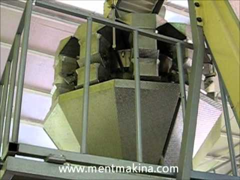 bakliyat paketleme makinaları terazili - multihead weigher filling form fill seal machine