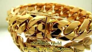 18k Rose Gold Miami Cuban Link Bracelet