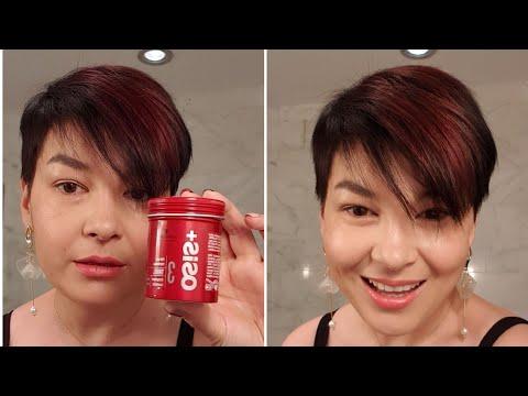 Как правильно наносить волокнистый воск Osis Fiber Gum на короткие волосы photo