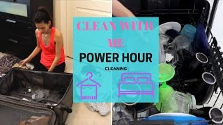 SPEED CLEANING MY HOUSE   POWER HOUR CLEANING   SAHM