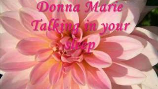 donna marie talking in your sleep