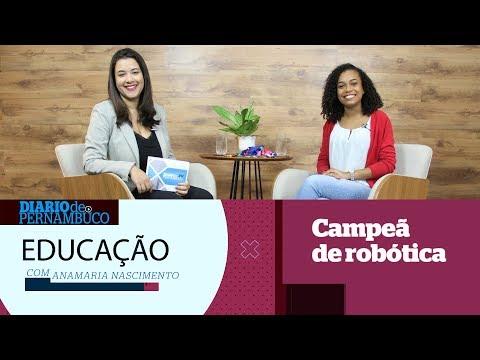 Conheça Maria Eduarda, destaque em competições de robótica