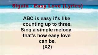 Sigala   Easy Love Lyrics