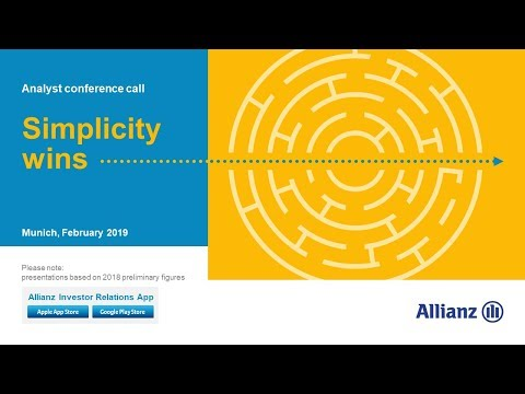 Allianz Group Analyst conference call on the financial results 2018