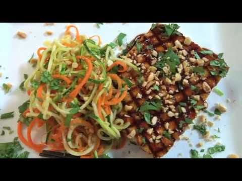 Spiralized Zucchini Noodles with Hoisin Tufu Recipe