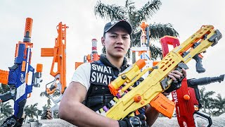 LTT Game Nerf War : Police Warriors SEAL X Nerf Guns Fight Inhuman SWAT Hunter