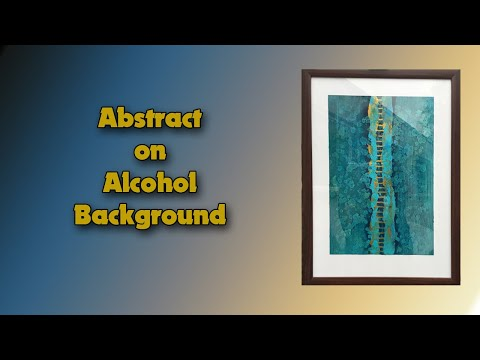 ( 1019 ) Abstract on an alcohol background