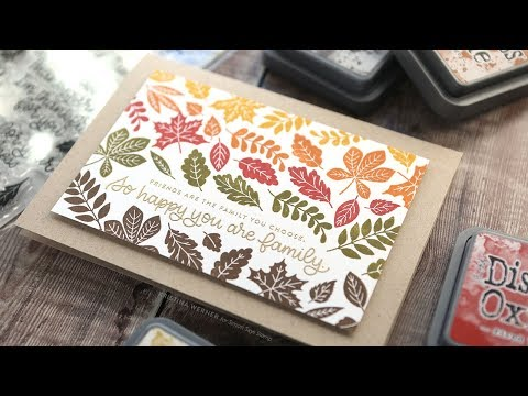 Autumn Stamping with Distress Oxide Inks