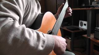 W.A.Mozart : Piano Concerto No.21(Elvira Madigan) Second Movement Excerpt (Andante) played on guitar