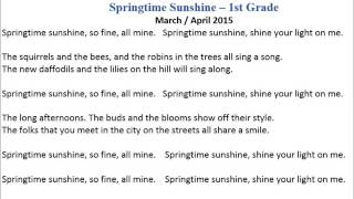 Springtime Sunshine - 1st Grade Night of the Arts