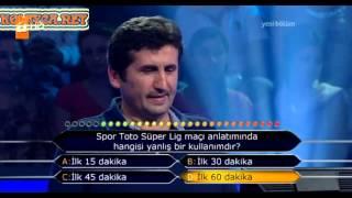 Kim milyoner olmak ister 233. bölüm 08.06.2013 2. yarışmacı