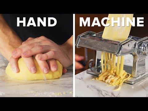 Handmade Vs. Machine-Made Pasta And Meatballs ?Tasty
