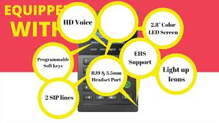 Fanvil X2P   Professional Call Center Phone with PoE and Color Display Credit :  Fanvil SEA
