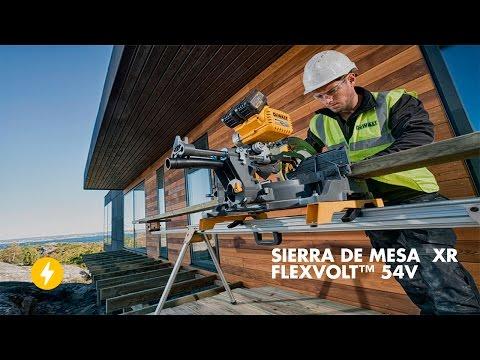 Conoce la Sierra de Mesa 54V XR FLEXVOLT™ de DEWALT