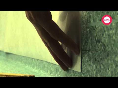 Montering av plastmatta i våtutrymme - Vägg