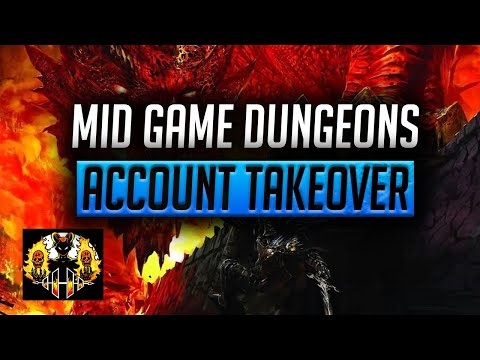 RAID: Shadow Legends | MID GAME DUNGEON PROGRESSION, ACCOUNT TAKEOVER!