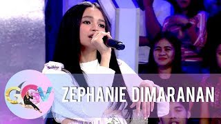 Zephanie performs different renditions of