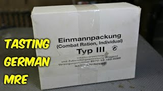 Tasting German Military MRE (Meal Ready to Eat)