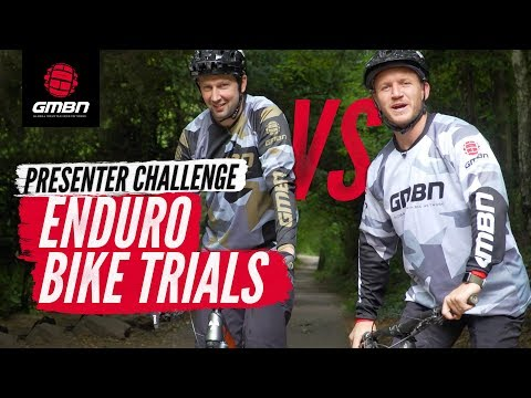GMBN Presenter Enduro Bike Trials Challenge | Blake Samson Vs. Chris Smith