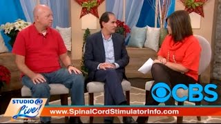 Dr Hanna Live on CBS News discussing how a Spinal Cord Stimulator treats chronic back pain.
