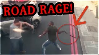 ❕❗Road Rage in London UK Fighting With a Belt! What Would You Have Done? (No voice over)