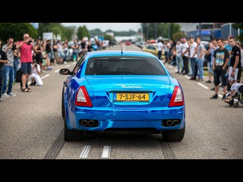 CRAZY LOUD Maserati Quattroporte w/ Custom Straight Pipes - Brutal Revs & Accelerations !