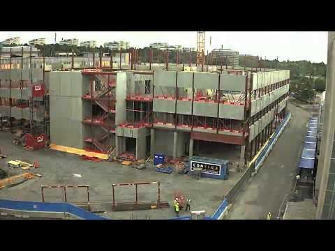 Akutvårdsbyggnaden på Danderyds sjukhus växer fram