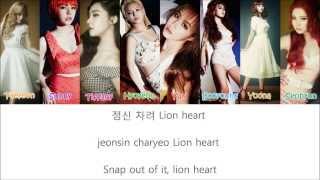 SNSD - Lion Heart Lyrics (Han+Rom+Eng)