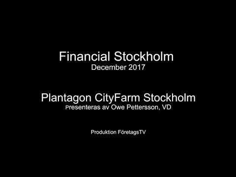 Owe Pettersson presenterar CityFarm på Financial Stockholms investerarträff 2017