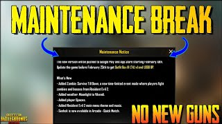 Maintenance Break PUBG Mobile 0.11.0 New Update is Here