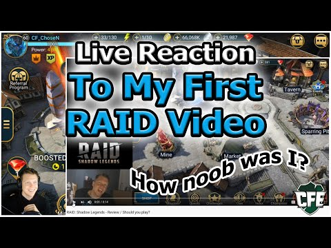 RAID Shadow Legends | Live Reaction to My First RAID Video Ever
